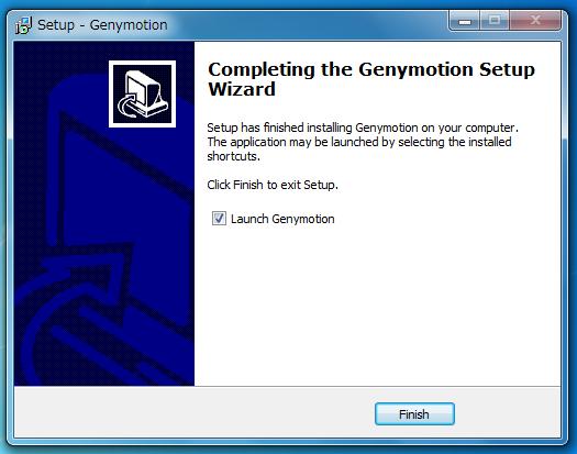 genymotionインストール完了