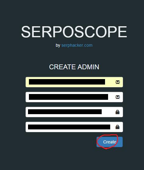 serposcopeのアカウントを作成