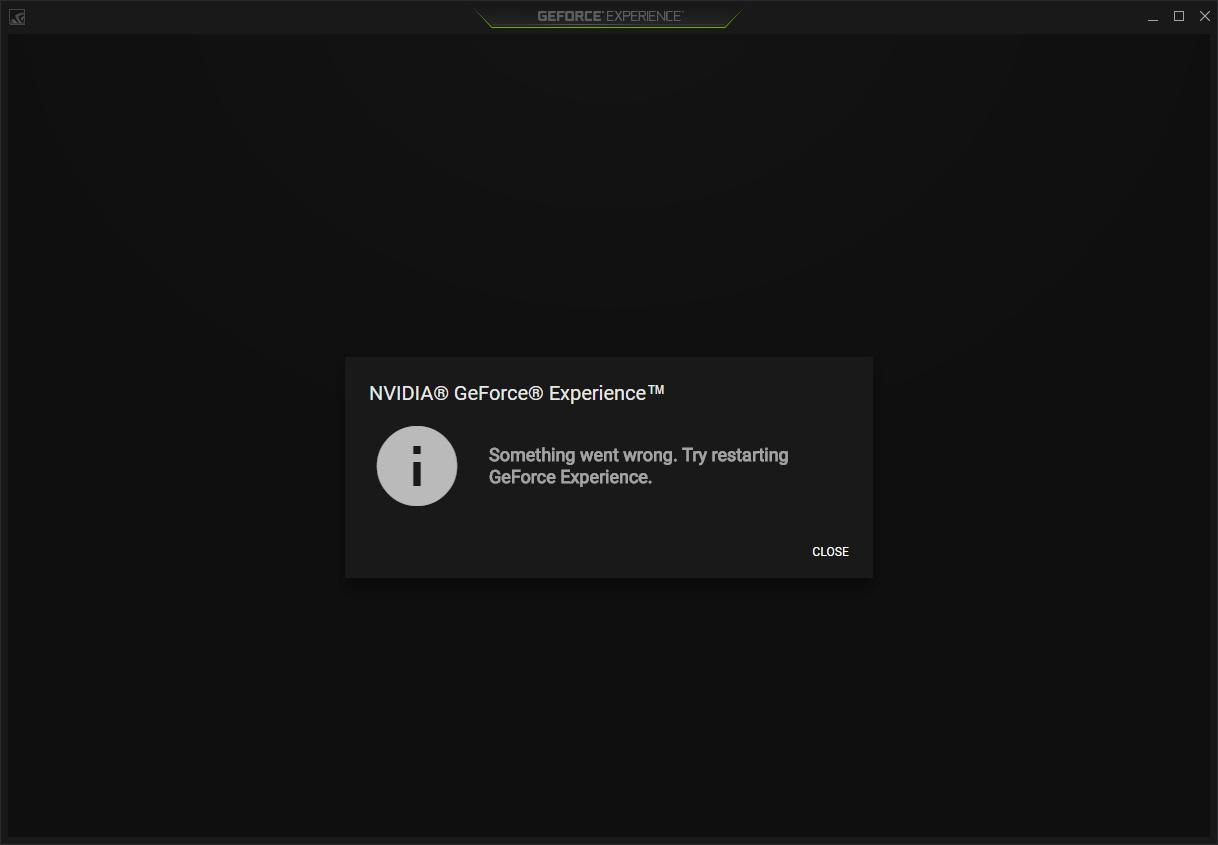 GeForce Experienceでエラーが発生