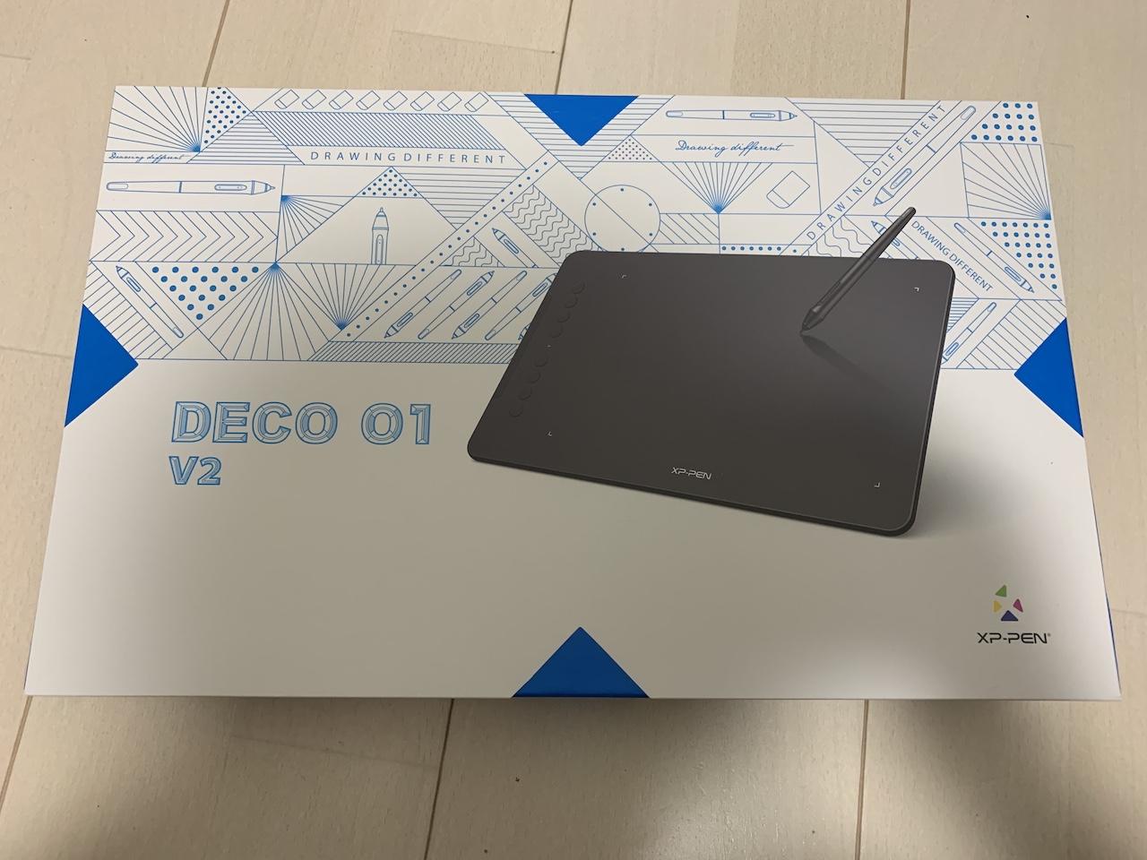 XP-Pen Deco 01 v2のパッケージ