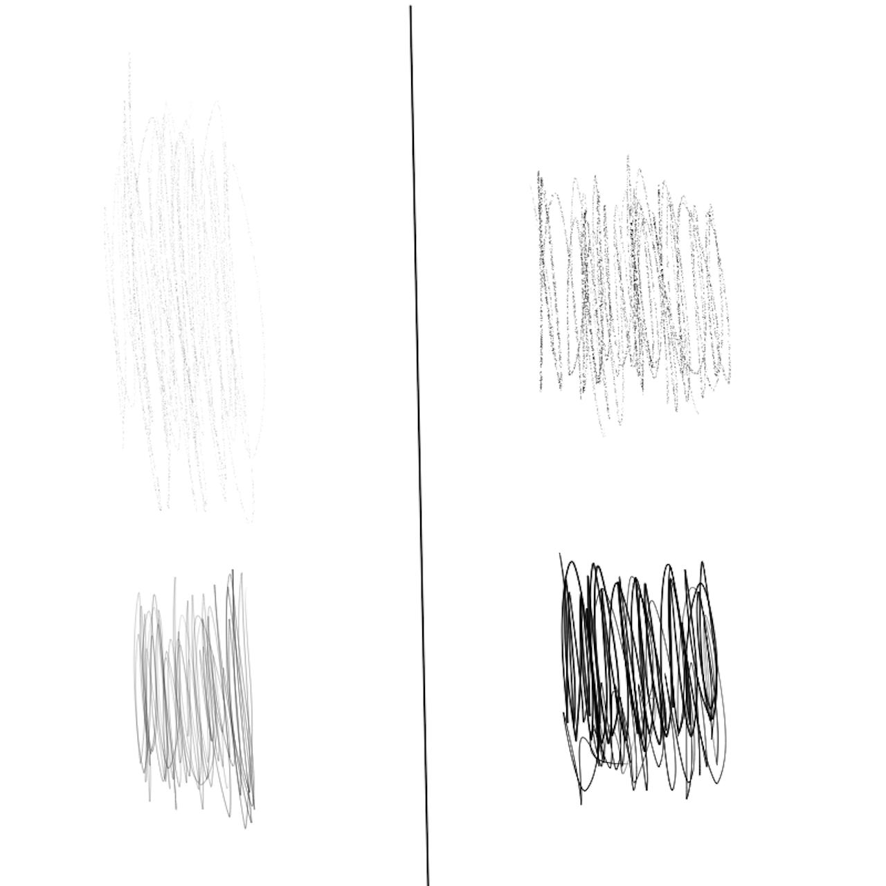 XP-Pen Deco 01 v2の感度を変更したサンプル