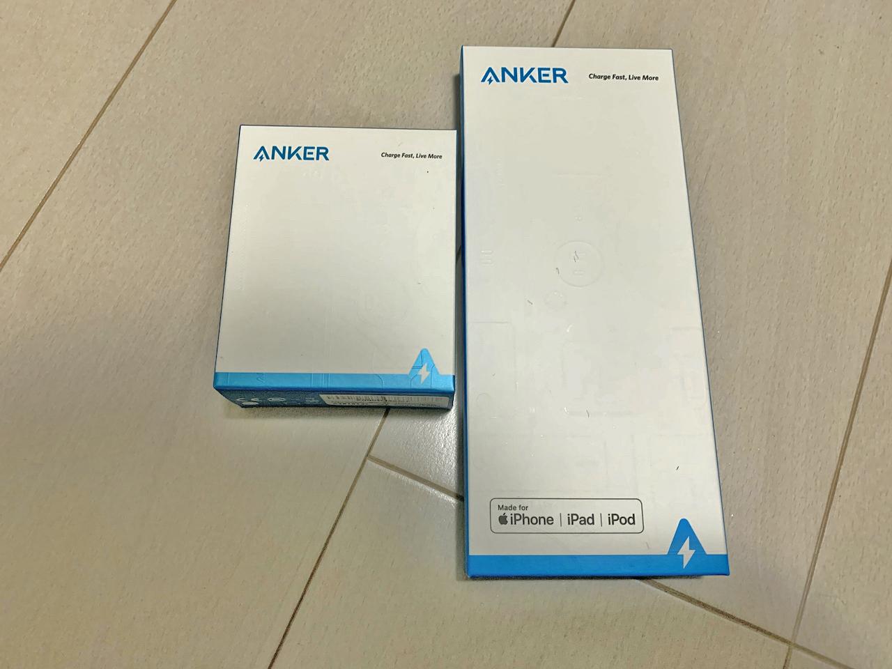 Anker PowerPort III miniとAnker PowerLine II USB-C & ライトニング