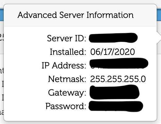 CloudatCostサーバーのインフォメーション